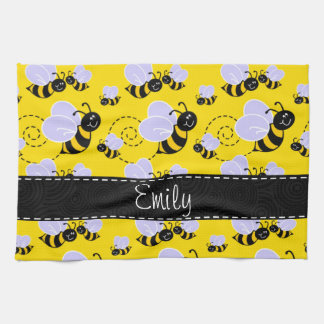 Yellow Amp Black Bumble Bee Towel