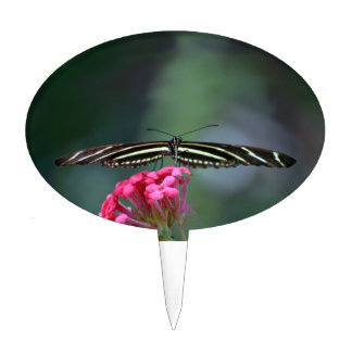 yellow black butterfly head on wings out c cake topper
