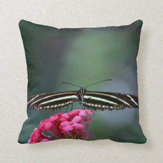 yellow black butterfly head on wings out c throw pillow