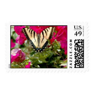 Yellow & Black butterfly postage stamp