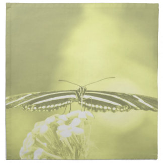 yellow black butterfly yellow fade head on wings cloth napkins