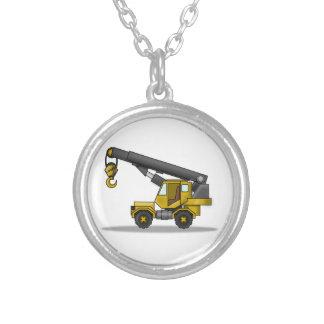 Yellow & Black Cartoon Crane Construction Vehicle Jewelry