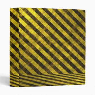 Yellow Black Chevron Stripes 3 Ring Binder