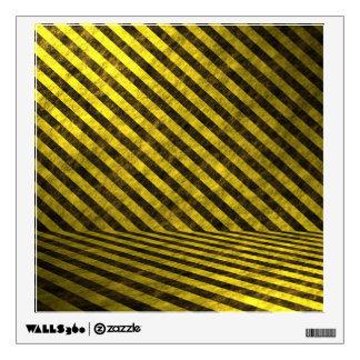 Yellow Black Chevron Stripes Wall Decal