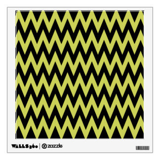 yellow black chevron wall decal