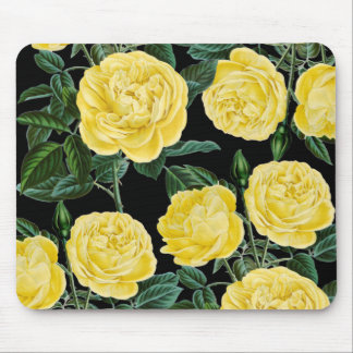 Yellow Black Chic Mouse Pad