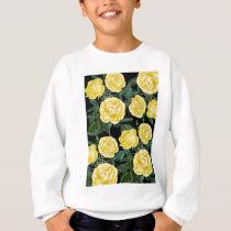 Yellow Black Chic Sweatshirt