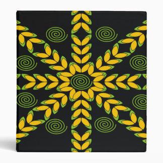 Yellow & Black Decorative Pattern Designer Binders