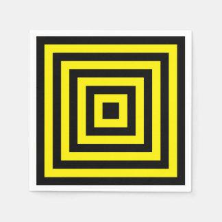 yellow black descendig squares alternance paper napkin