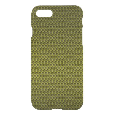 Aztec Themed Yellow & Black Digital Honeycomb Carbon Fiber iPhone 7 Case