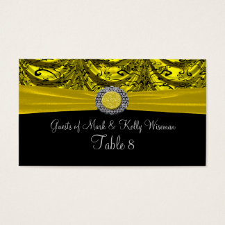 Yellow & Black Draped Baroque Table Business Card