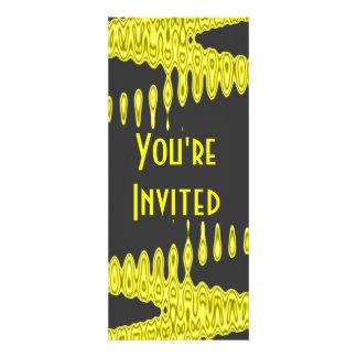 yellow black elegant custom invitations