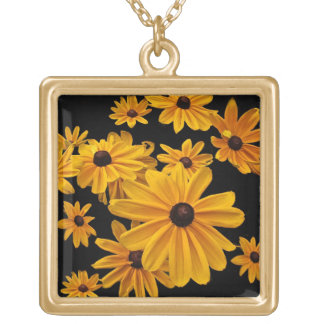 Yellow Black Eyed Susan Flowers Floral Necklace