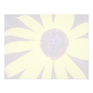 yellow Black eyed Susan flowers Personalized Letterhead