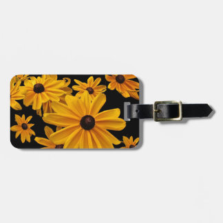 Yellow Black Eyed Susan Flowers Luggage Tag