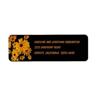 Yellow Black Eyed Susan Flowers Return Address