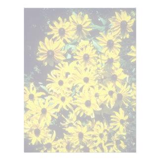 yellow Black Eyed Susan (Rudbeckia Hirta) flowers Letterhead Design
