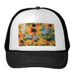 Yellow Black-eyed Susan Wildflower Art Panting Hat