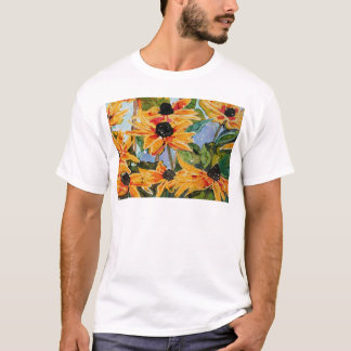 Yellow Black-eyed Susan Wildflower Art Panting T-Shirt