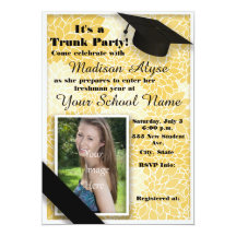 College Trunk Party Invitations