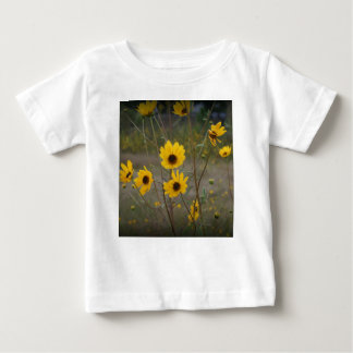 Yellow black Florida Wildflower Photograph Baby T-Shirt