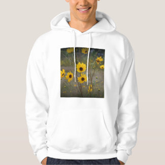Yellow black Florida Wildflower Photograph Hooded Pullover