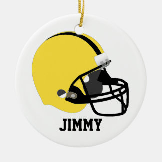 Yellow & Black Football Helmet Ornament