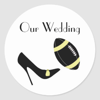 Yellow & Black Football Themed Envelope Seal