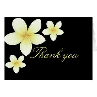 Yellow & Black Frangipani Thank You Card