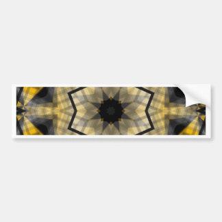 Yellow black Geometric Car Bumper Sticker