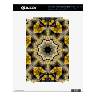 Yellow black Geometric Skin For The NOOK