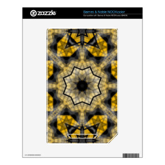 Yellow black Geometric NOOK Color Decals