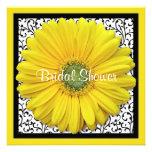 Yellow Black Gerber Daisy Bridal Shower Invitation