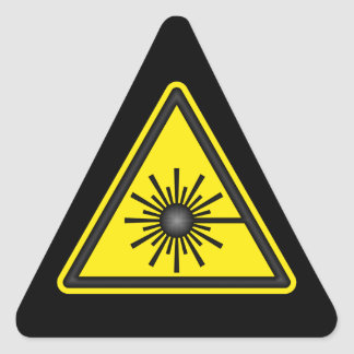 Yellow & Black Laser Warning Sticker