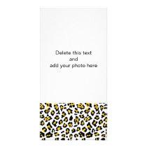 Yellow Black Leopard Animal Print Pattern Card