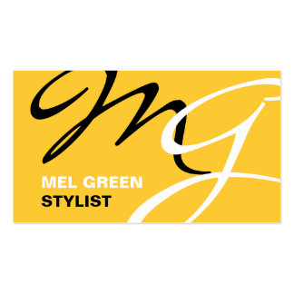 Browse the Monogram Business Cards Collection and personalize by color, design, or style.