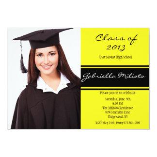 Yellow & Black Photo Graduation Invitation