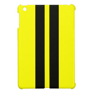 Yellow Black Racing Stripes Ipad Mini Case