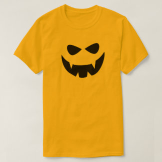 yellow black scary halloween face t shirt - Scary Halloween Shirts