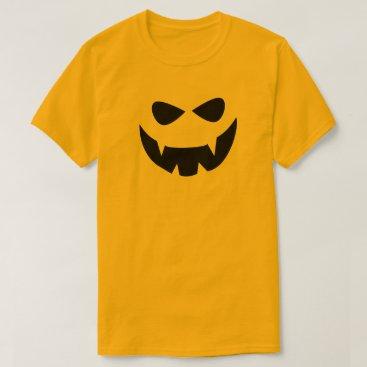 Halloween Themed Yellow Black Scary Halloween Face T-Shirt