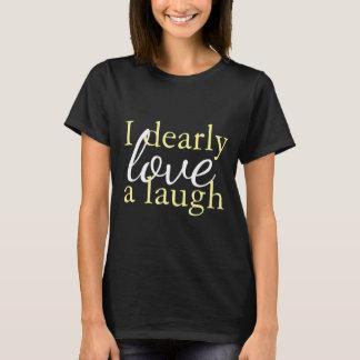 Yellow Black Shirt Jane Austen Quote Love Laughter