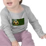 Yellow & Black Soccer Ball in Net Shirt