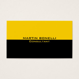 Yellow Black Special Unique Plain Clean Business Card