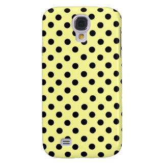 Yellow & Black Spot Polka Dot 3G  Galaxy S4 Cases
