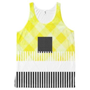 Professional Business Yellow-Black-Summer-Fun-Women-Tank-Top All-Over-Print Tank Top