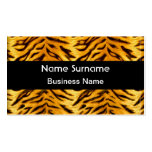 Yellow Black Tiger Look Double-Sided Standard Business Cards (Pack Of 100)