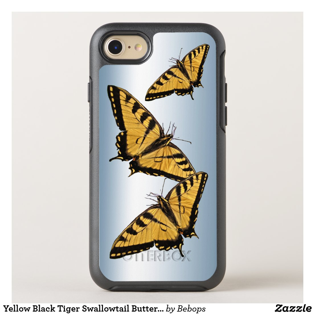 Yellow Black Tiger Swallowtail Butterfly Animal OtterBox Symmetry iPhone 7 Case