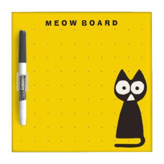 Yellow Black Triangle Symbolic Cat Dry-Erase Board