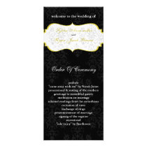 yellow black Wedding program