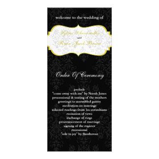 yellow black Wedding program